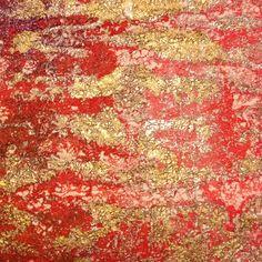 Textiles - bond a web and paints