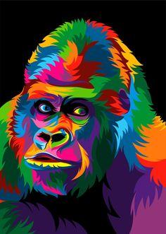 colorful animal art Oil Pastels is part of Making Art With Kids Oil Pastels That Pop - 13 Colorful Animal Vector Illustration on Behance Colorful Animal Paintings, Colorful Animals, Tableau Pop Art, Beginner Painting, Arte Pop, Medium Art, Art Oil, Vector Art, Color Vector
