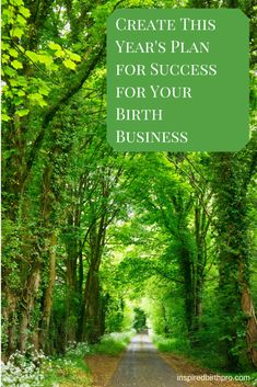 Business building for birth pros - annual plan for success - www.inspiredbirthpro.com