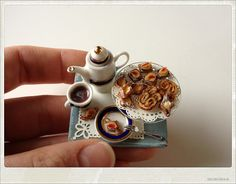 Miniature hot chocolate and pastry board   Flickr - Photo Sharing!