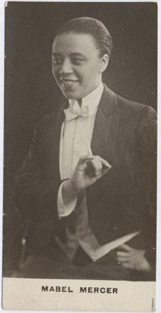 Mabel Mercer in a tuxedo, 1917.