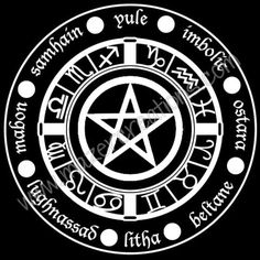 Wheel of the Year Vinyl Car Decal Wicca Pagan by MazerCreations