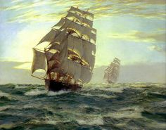 Montague Dawson - Cutty Sark and Thermopylae http://irushonok.livejournal.com/831180.html
