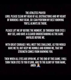 #pregame #prayers