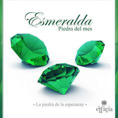 La piedra del mes de Mayo es la Esmeralda, una de las piedras más valoradas junto con el diamante y los rubíes. #Esmeralda #PiedraDelMes