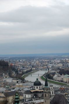 Salzburg-This view can be seen at the top of the tower in the Hohen fortress, you can see all of Salzburg, it is so silent atop. My best memory and most cherished of the trip.