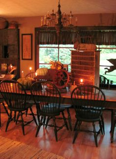 Primitive Dining Room - so country i love it !