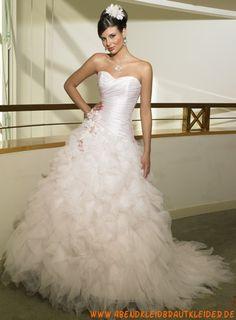 A-linie Glamouröse Dramtische Brautkleider aus Organza mit Applikation