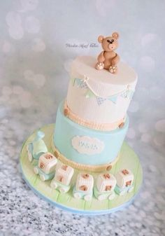 Fionn's Christening Cake by Wooden Heart Cakes