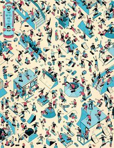 #Skaturday   El 'Planeta Skate' de Hackett Illustration I #Ilustration I Cóctel Demente
