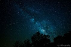 Astrophotographer Sergio Garcia Rill sent in a photo of an Eta Aquarid meteor and the center of our galaxy, the Milky Way, taken in Garner State Park, Texas, on May 5, 2013.