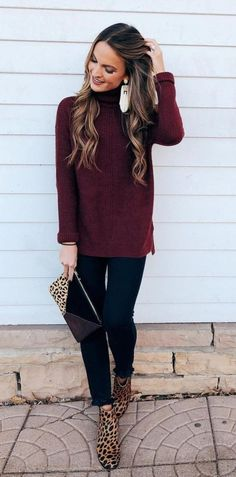 574a08151 51 Beautiful Winter Outfits Ideas With Sweaters