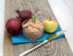 Aufstrich, Rezept, Apfel, Zwiebel, Dip, vegetarisch, frisch, aromatisch, Abwechslung, Dip, Jause, Snack Dip, Pudding, Desserts, Food, Onions, Fresh, Apple, Food Portions, Food Food