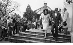 Jack and Jackie leaving church 1962
