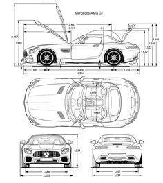 Car blueprint blueprints cars pinterest cars car drawings mercedes amg gt roadster blueprint malvernweather Images