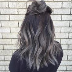 This isn't your granny's gray. Grombre hair inspiration.
