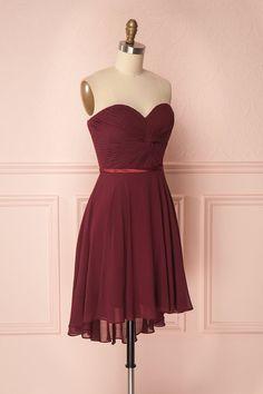 Maliha Burgundy Bustier A-Line Prom Dress   Boudoir 1861
