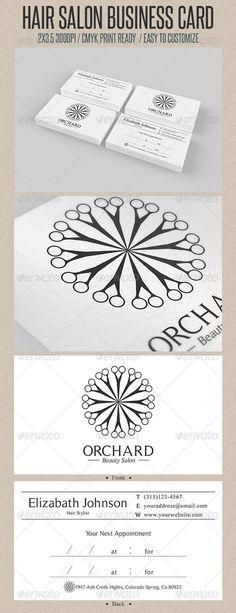 Ispirazione per il logo di un parrucchiere... Se propio vuoi usare la classica forbice, fallo in modo diverso! Come questo esempio :-)