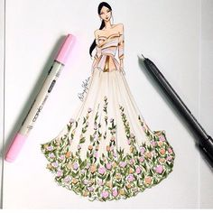 """311 Likes, 26 Comments - Dimple Asha (@dimple_asha_illustration) on Instagram: """"One of my favourites!  @manishmalhotra05 #fashionillustration #fashionillustrator #illustration…"""""""