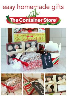 Easy Homemade Gifts with The Container Store from @sixxsistersstuff