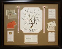Custom frame wedding mementos in a collage!  Bring in your shoebox of goodies and let us help u design yours today at Art and Frame Express in Edison NJ