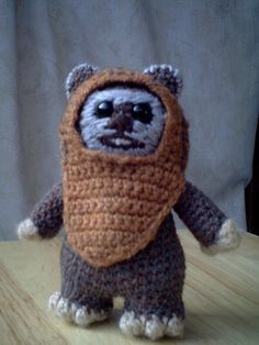 Wicket the Ewok by Lucy Ravenscar free crochet pattern on Ravelry at http://www.ravelry.com/patterns/library/wicket-the-ewok