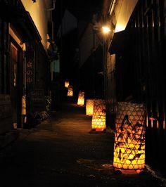愛知県足助町の夏の風景「たんころりん」