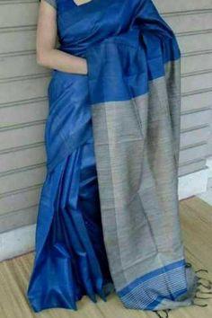114 best Silk Sarees photos by Blue Silk Saree, Indian Silk Sarees, Tussar Silk Saree, Soft Silk Sarees, Cotton Saree, Kerala Saree, Sarees For Girls, Modern Saree, Simple Sarees