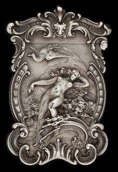 A KERR SILVER MATCH SAFE. Wm. B. Kerr & Co, Newark, New Jersey,circa 1900.