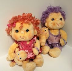 Vintage Hugga Bunch Dolls Huggins Impkins 1980s