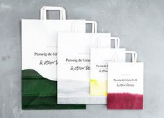 & other stories bags. #branding #dip-dye #design.