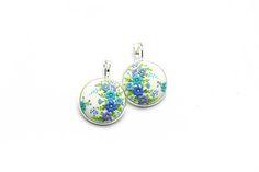 Wedding-earrings Gift-for-bride Gift-for-women Embroidery earrings Art earrings Floral earrings Gift for her Filigree earrings  Gift for mum