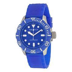 Nautica Cobalt Blue Dial Blue Silicone Rubber Unisex Watch A09601G. Shop now: http://www.watchvendor.ca/nt-a09601g.html