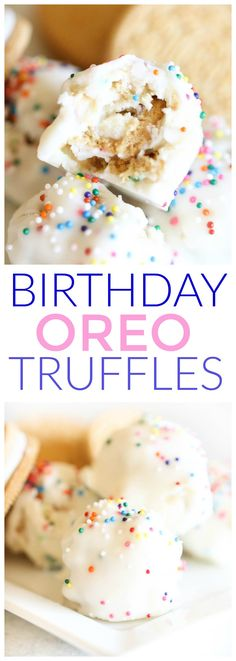 Birthday Oreo Truffles from SixSistersStuff.com | Fun Party Food | Birthday Ideas | Kid Approved Snacks | Desserts