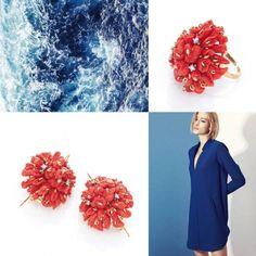 Orecchini in corallo di Sciacca, gancio ad amo in oro.