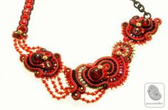 Italian soutache with nylon wrapped chain