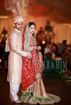 #Pakistani Wedding, Couple via Umbreen Ibrahim Photography  @uiphotography #Lahore https://www.facebook.com/UMBREENIBRAHIMPHOTOGRAPHY/