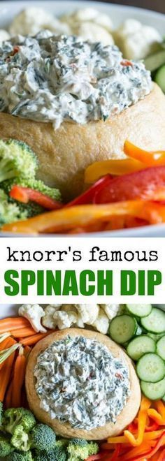 This Knorr Spinach Dip Recipe is the classic versi… (healthy dip recipes) Appetizer Dips, Appetizers For Party, Appetizer Recipes, Simple Appetizers, Appetizer Dessert, Cold Appetizers, Antipasto, Low Carb Low Calorie, Knorr Spinach Dip