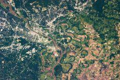 Little Rock Ark. from space. Just like pixels!
