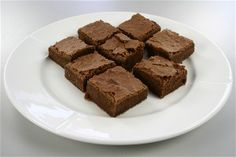 Brownies. I use a little less sugar, a chocolate or sugar glazing on top and about 100 g of walnuts.