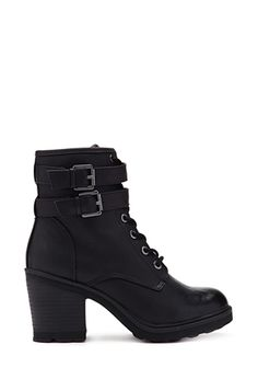 Lace-Up Combat Boots   FOREVER21 - 2000129934