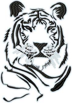 One Dollar Designs Cheetah Drawing, Tiger Drawing, Tiger Art, Big Cat Tattoo, Tiger Tattoo, Stencil Patterns, Stencil Art, Colorful Animal Paintings, Tattoo Drawings
