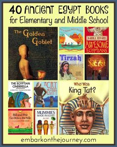 Bring your world history lessons to life with one or more of these 40 Ancient Egypt books for elementary and middle grade readers! | embarkonthejourney.com