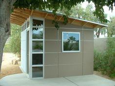 Gartenhaus  Flachdach  im minimalistischen Stil