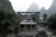 Yangshuo Sugar House in Guilin, China by Vector Architects | Yellowtrace Historical Architecture, Contemporary Architecture, Architecture Design, Chinese Architecture, Mini Clubman, Hotels And Resorts, Best Hotels, Amazing Hotels, Guilin
