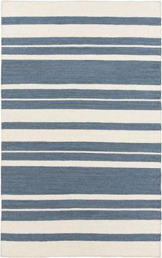 Frontier Stripes Area Rug Blue