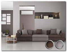 белые обои коричневая мебель