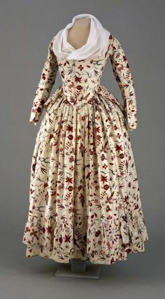 Printed Perfection: A Two-Piece Gown of India Chintz, c1790 #recyclinginformation
