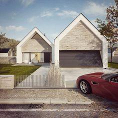 W duecie - dom parterowy z poddaszem użytkowym i garażem   doomo