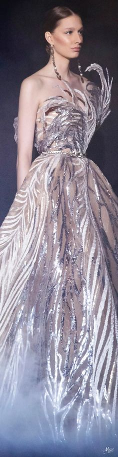 Spring 2021 Haute Couture Elie Saab Elie Saab Couture, Ellie Saab, Strapless Dress Formal, Formal Dresses, Fashion Sketches, Ball Gowns, Ready To Wear, Bridal, Celebrities